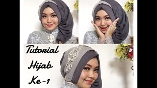 #4 Tutorial Hijab Segi Empat Paris Rawis Wisuda Pesta Kondangan Simple by @olinyolina part I