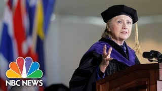 Hillary Clinton Alludes To President Donald Trump In Wellesley Commencement Speech | NBC News