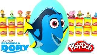 Huevo Sorpresa Gigante de Buscando a Dory en Español Plastilina Play Doh