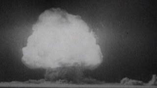 Archive footage of Hiroshima bombing
