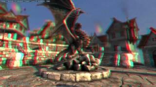 GeForce GTX 400er Series Unigine Heaven  Tech-Demo 3D Version Red/Cyan