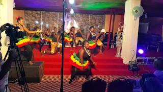 Divine Explosives doing a Kenyan dance---Kulatete