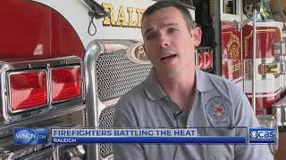 NC firefighters battle extremely high temperatures