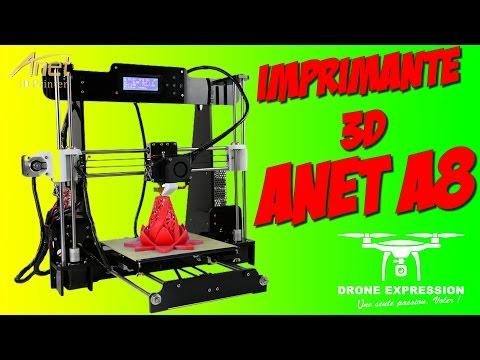 Présentation (unboxing) Imprimante 3D Anet A8 Prusa I3 + CURA - GEARBEST