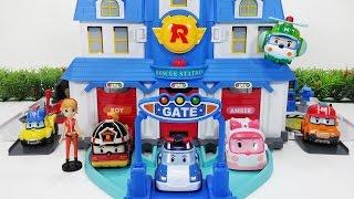 로보카폴리 열리는 구조본부 플레이 세트 엠버 로이 헬리 뽀로로 장난감 Robocar Poli rescue Center Headquarter Play set toy