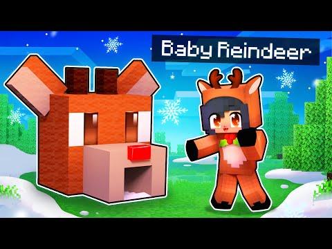 My BABY Reindeer s SECRET Minecraft Base