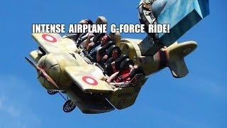 Vertigo - Absoultely INSANE Airplane G-Force Amusement Park Ride Tivoli Gardens Denmark