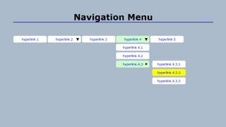 Cascading Drop-down Navigation Menu with CSS (Part 1)