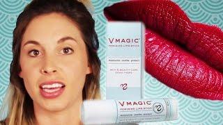 Women Try A Vagina Lipstick