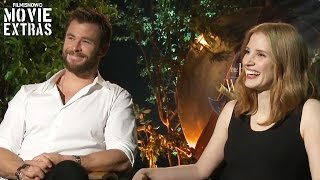 Chris Hemsworth & Jessica Chastain talk about The Huntsman: Winter's War (2016)