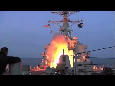 U.S. Navy Destroyer launches Tomahawk cruise