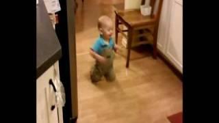 mason walking in the kitchen 09-26-09