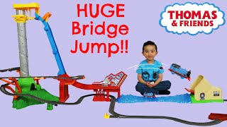 Unboxing Playing Thomas The Train Engine Sky High Bridge Jump Huge Train Track Set Ckn Toys