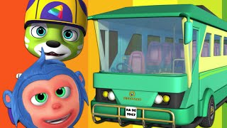 Wheels On The Bus Go Round And Round Nursery Rhyme | Kids Songs By Videogyan 3D Rhymes