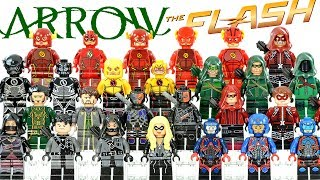 Green Arrow & The Flash Arrowverse DC Extended Universe Unofficial LEGO Minifigures Collection