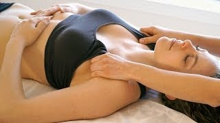 How to Massage For Beginners - Chest, Neck, Head, Face Relaxation Massage Therapy Techniques