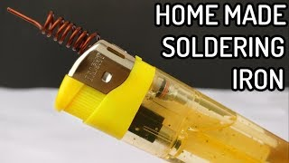 How to Make Soldering Iron with Lighter | DIY