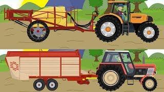 Agricultural machinery | Cartoon for kids | Maszyny rolnicze | Kreskówki dla dzieci - Traktory