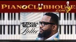 🎹  Hezekiah Walker - BETTER (easy gospel piano tutorial lesson) 🎹