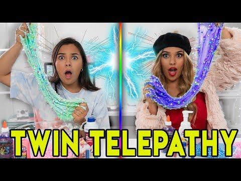 Twin Telepathy Slime Challenge ft. Rosalina & Natalies Outlet