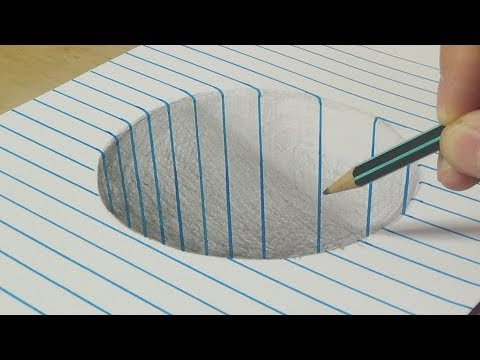 Xxx Mp4 Drawing A Round Hole Trick Art With Graphite Pencil By Vamos 3gp Sex