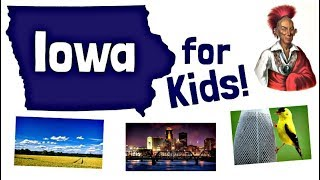 Iowa for Kids   US States Learning Video