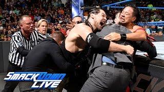 Shinsuke Nakamura ignites a pre-match brawl with Baron Corbin: SmackDown LIVE, July 11, 2017
