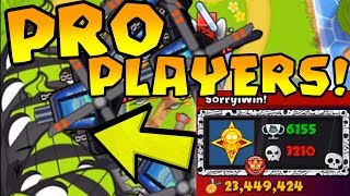 INTENSE Games Against PRO PLAYERS! LATE GAME! (Bloons TD Battles)