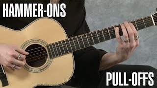 Hammer-Ons and Pull-Offs Guitar Lesson