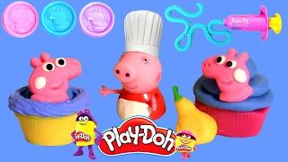 Peppa Pig Cupcake Dough Set Canal Toys | Massinhas Play Doh Cupcake da Peppa Pig em Portugues ToysBR