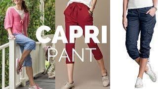Latest Capri Pants Designs for Ladies | Designer Capri Pants Patterns