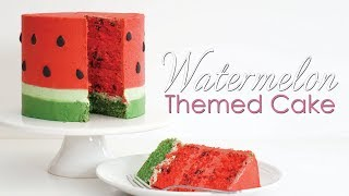How to make a Watermelon Cake Tutorial