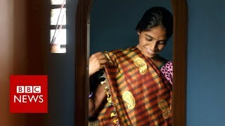 The farmers using sewage to make saris - BBC News