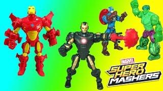 Marvel Iron Man Super Hero Mashers Help Captain America Calm Down the Hulk!