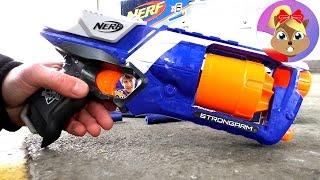 Nerf N' Strike Elite Strongarm Hasbro 36033E24 | pistolet na plastikowe naboje | Demo & Action