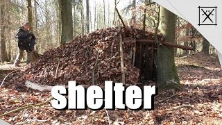 Wilderness Survival#2 / How to build a shelter