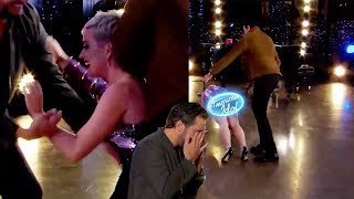 The Internet Reacts To Katy Perry's HILARIOUS Fall And Wardrobe Malfunction On American Idol