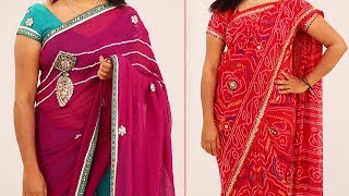 Saree Draping Styles for Fat and Short Women to Look Slim and Tall | Step by Step Tutorial