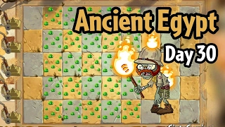Plants vs Zombies 2 - Ancient Egypt Day 30: Torchlight Zombie | More Dave's mold colonies!