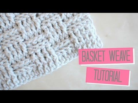 CROCHET Basket weave tutorial Bella Coco