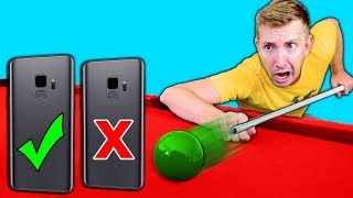 DO NOT Try Phone TRICK SHOTS in REAL LIFE Challenge with a Samsung Galaxy S9