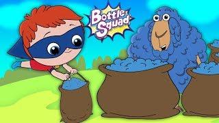 Baa Baa Black Sheep | Superhero Rhymes | Baby Cartoons | Bottle Squad Videos | Kids Rhyme