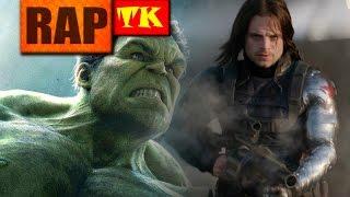 Rap do Hulk e Soldado Invernal // Rap Duplo - Fora de controle // TK RAPS