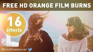 ORANGE FILM BURNS - FREE HD - By @tiredfreelancer