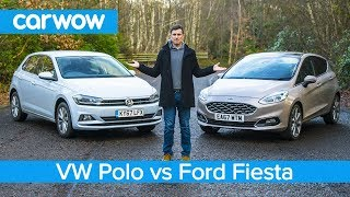 Volkswagen Polo 2019 vs Ford Fiesta 2019 - see which is the best small car!   carwow