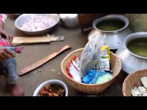 Traditional Bangladeshi Village  Cooking Village cooking my village way to cook curry  deep frying