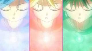 Mermaid.Melody.Pichi.Pichi.Pitch - Luchia.Hanon.&.Rina.Transformation.in.split.screen (under.water)