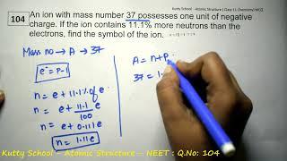 neet chemistry mcq   Atomic Structure   104