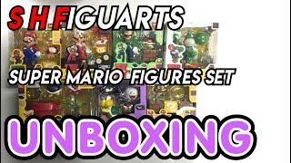 S H Figuarts Super Mario Figures Set Unboxing!!