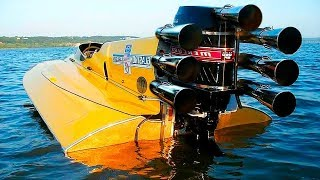 هذا القارب الفائق أسرع من سيارة بوجاتي فيرون!!